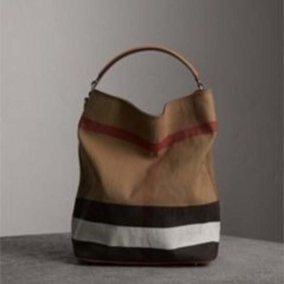 e65ea1d46c3 Burberry Handbags - Burberry Medium Ashby in Canvas Check and Leather